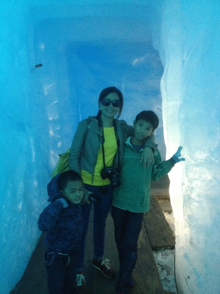 We were practically inside the glacier!